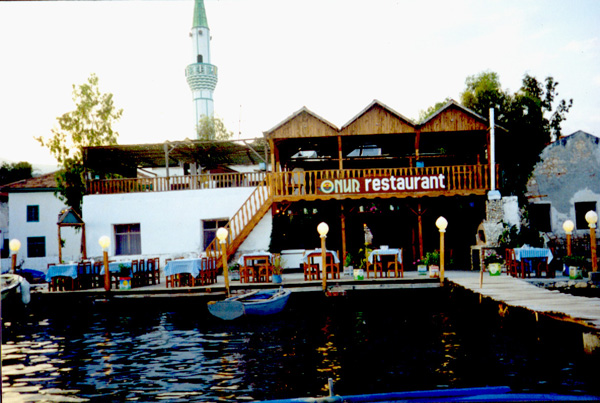 Onur Pension & Restaurant from sea